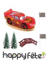 Décorations Cars pour gâteau, 8 cm