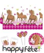Décorations chevaux pour table d'anniversaire
