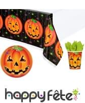 Décorations citrouille pour table de Halloween
