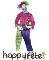 Déguisement clown tueur coloré