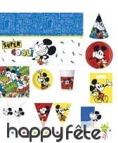 Déco d'anniversaire Mickey Mouse vintage