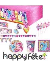 Décoration d'anniversaire My little Pony