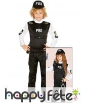 Déguisement d'agent spécial du FBI pour enfant, image 1