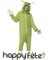 Déguisement d'alien vert pour enfant