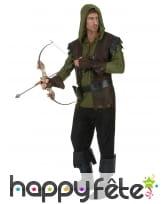 Déguisement d'archer médiéval marron vert, adulte, image 1