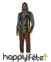 Déguisement d'archer pour homme, vert et marron, image 1