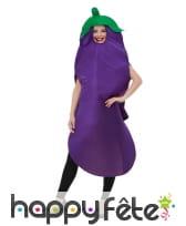 Déguisement d'aubergine pour adulte