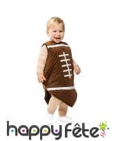Déguisement de ballon de rugby pour bébé