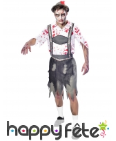 Déguisement de bavarois zombie