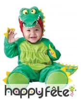 Déguisement de bébé crocodile vert