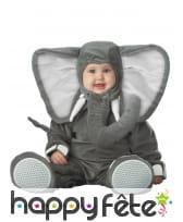 Déguisement de bébé éléphant gris