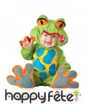 Déguisement de bébé grenouille verte
