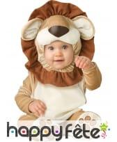 Déguisement de bébé lion avec cagoule