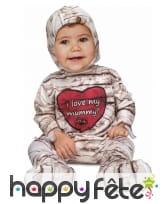Déguisement de bébé momie i love my mummy