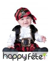 Déguisement de bébé pirate captain