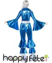 Déguisement disco bleu pour femme, image 1