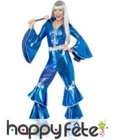 Déguisement disco bleu pour femme