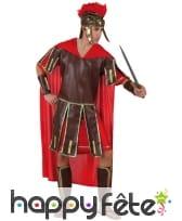 Déguisement de centurion romain avec cape rouge