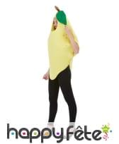 Déguisement de citron jaune pour adulte, image 1