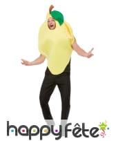Déguisement de citron jaune pour adulte, image 3