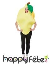 Déguisement de citron jaune pour adulte