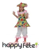 Déguisement de clown en jupette pour fillette