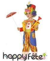Déguisement de clown jaune et rouge pour enfant