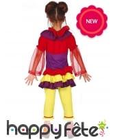Déguisement de clown jaune et rouge pour fille, image 1