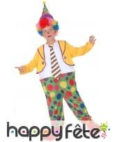 Déguisement de clown pour garçon avec cerceau