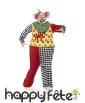 Déguisement de clown sinistre avec masque