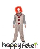 Déguisement de clown sinistre vintage, image 1