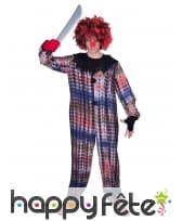 Déguisement de clown tueur pour adulte