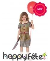 Déguisement de clown vintage Halloween pour fille