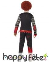 Déguisement de clown zombie pour enfant garçon, image 1