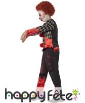Déguisement de clown zombie pour enfant garçon, image 2
