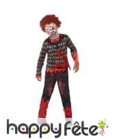 Déguisement de clown zombie pour enfant garçon