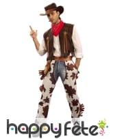 Déguisement de cowboy chaps vachette pour homme