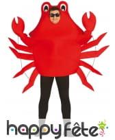 Déguisement de crabe rouge articulé pour adulte