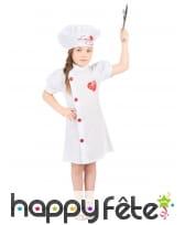 Déguisement de cuisinier pour petite fille