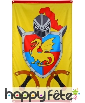 Drapeau de chevaliers et dragons
