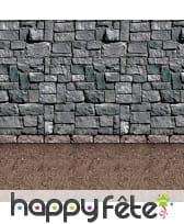 Décor de donjon pierres et sol terre battue