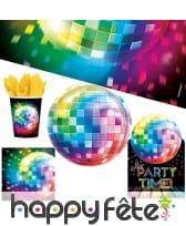Décorations disco de table pour Anniversaire