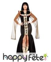 Déguisement de déesse Egyptienne, noir or