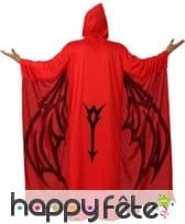 Déguisement de démon rouge ailes imprimées, image 1