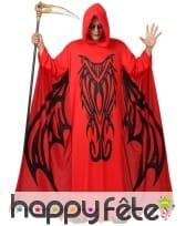 Déguisement de démon rouge ailes imprimées