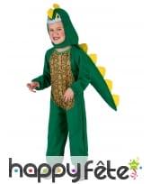 Déguisement de dinosaure vert pour enfant, image 1