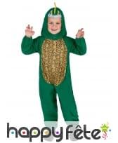 Déguisement de dinosaure vert pour enfant, image 2