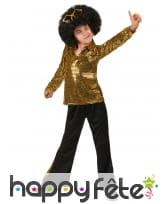 Déguisement disco doré pour enfant