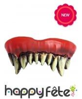 Dentier de dents pointues de monstre pour adulte