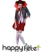 Déguisement d'écolière zombie pour femme, image 3